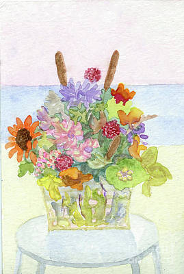 Painting - Basket Arrangement by Anne Marie Brown