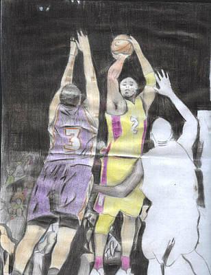 Basket Ball Art Print by Daniel Kabugu