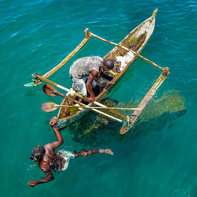 Photograph - Basket Fishing In Mozambique by Gregory Daley  PPSA