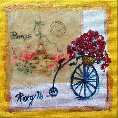 Transportation Painting - Basket Full Of Joy by Roxy Rich