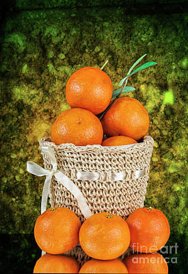 Photograph - Basket Full Of Oranges by Shirley Mangini