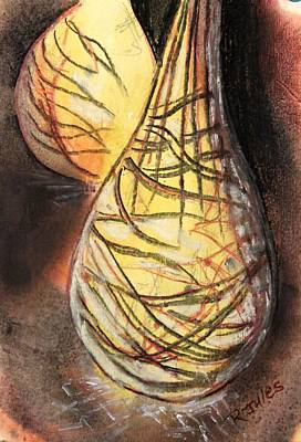 Painting - Basket Light Yellow Glow by Richard Jules