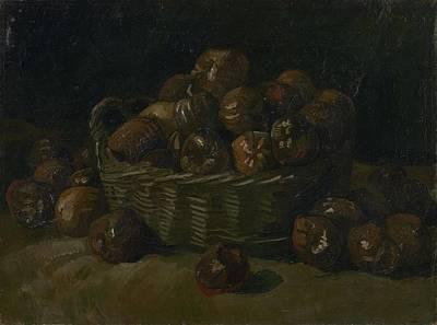 Painting - Basket Of Apples Nuenen, September 1885 Vincent Van Gogh  1853  1890 by Artistic Panda