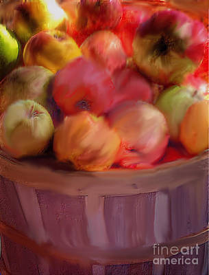 Photograph - Basket Of Apples by Susan Garren