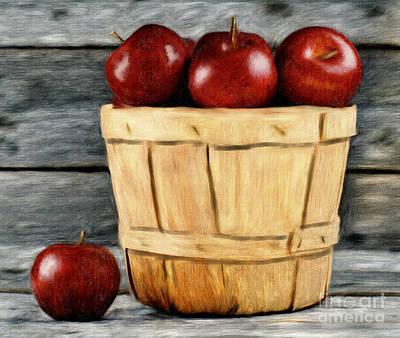 Painting - Basket Of Apples by Tara Richardson
