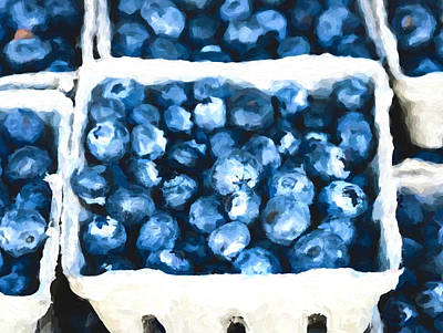 Painting - Basket Of Blueberries by Dan Sproul