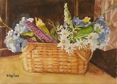 Kitchen Mark Rogan - Basket of Flowers by Donna Rollins