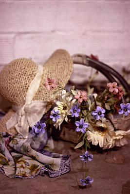 Photograph - Basket Of Flowers by Eleanor Caputo