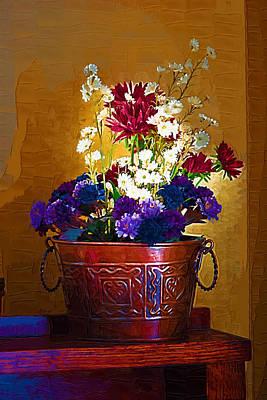 Basket Of Flowers Original