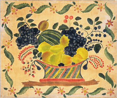 Painting - Basket Of Fruit by American 19th Century