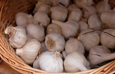 Photograph - Basket Of Garlic. by Iryna Soltyska