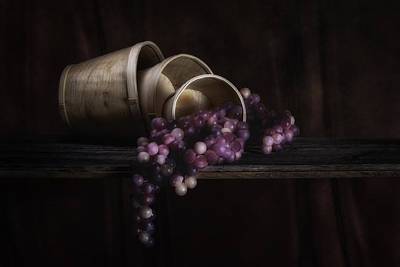 Grape Photograph - Basket Of Grapes Still Life by Tom Mc Nemar