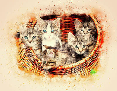 Basket Of Love Art Print
