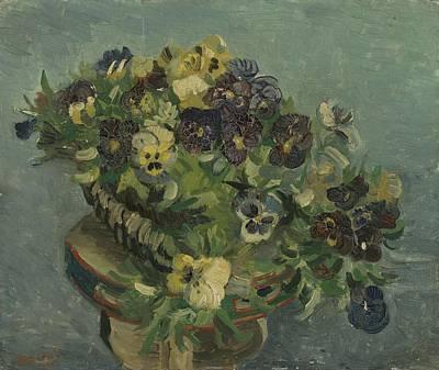 Painting - Basket Of Pansies Paris, May 1887 Vincent Van Gogh 1853  1890 by Artistic Panda