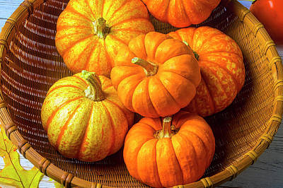 Photograph - Basket Of Pumpkins by Garry Gay