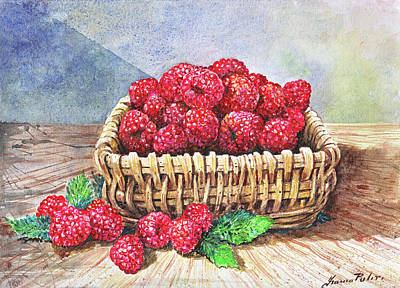 Basket Of Raspberries Original