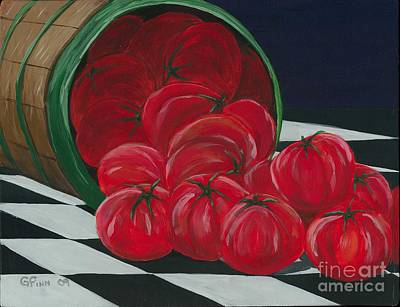 Basket Of Tomatoes Art Print by Gail Finn
