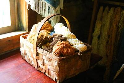 Photograph - Basket Of Wool by Kathryn Meyer