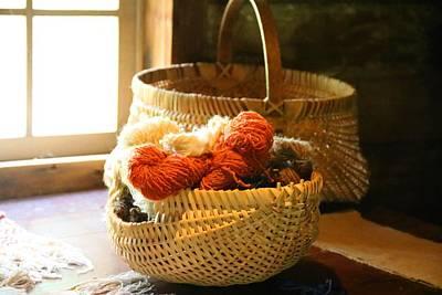 Photograph - Basket Of Yarn 1 by Kathryn Meyer