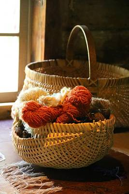 Photograph - Basket Of Yarn 2 by Kathryn Meyer