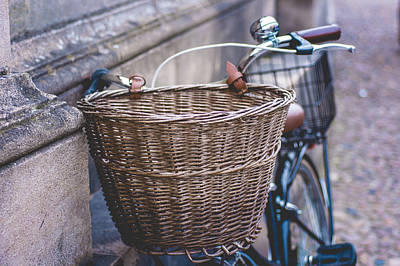 Photograph - Basket On A Bicycle by Christi Kraft
