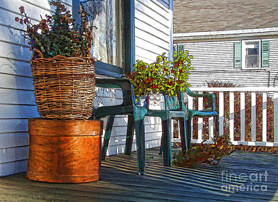 Basket Porch Art Print by Betsy Zimmerli