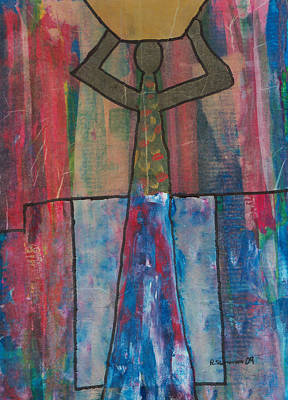 Mixed Media - Basket Woman by Russell Simmons