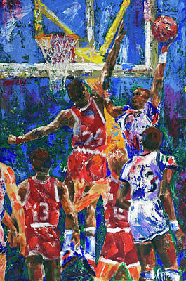 Painting - Basketball 1970s by Walter Fahmy