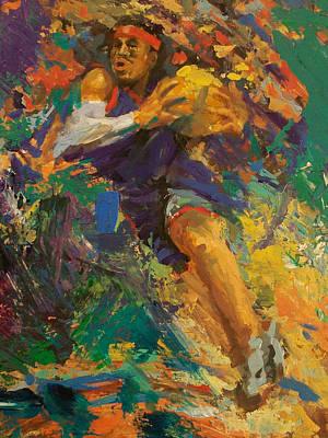 Basketball Ai Art Print by Tom Forgione