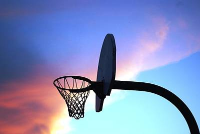 Photograph - Basketball Hoop Sunset by Matt Harang