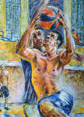 Basketball. In The Attack Art Print by Evgeni Bazelevski