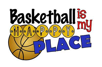 Basketball Is My Happy Place  Art Print