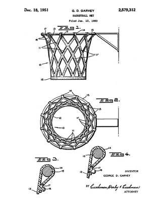 Basketball Net Patent 1951 Art Print