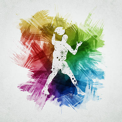 Athletes Royalty-Free and Rights-Managed Images - Basketball Player Art 11 by Aged Pixel