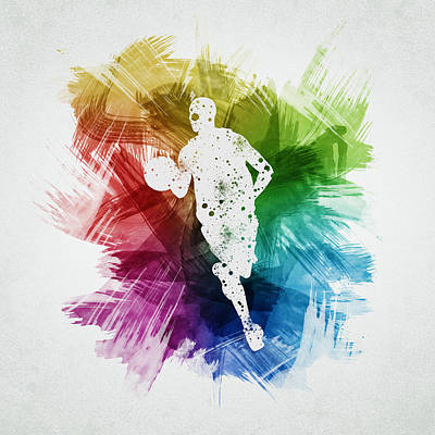 Sports Royalty-Free and Rights-Managed Images - Basketball Player Art 17 by Aged Pixel