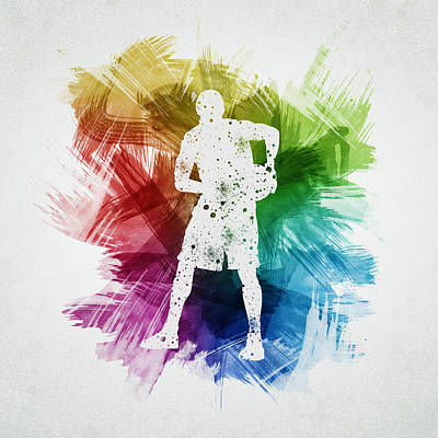 Sports Royalty-Free and Rights-Managed Images - Basketball Player Art 18 by Aged Pixel