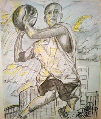 Just Do It Drawing - The Sky Is The Limit  by Darlene Ricks- Parker