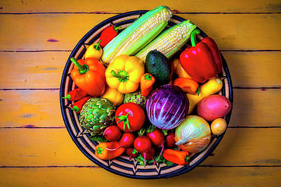 Photograph - Basketful Of Fresh Vegetables by Garry Gay