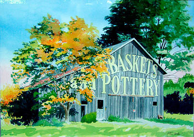 Pottery Barn Painting - Baskets And Pottery by Jim Gerkin