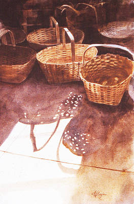Baskets In The Sun Art Print