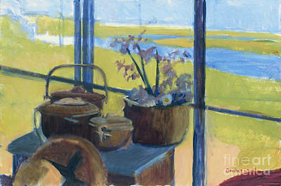 Painting - Baskets In The Window by Candace Lovely