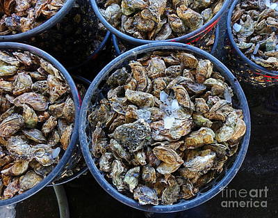 Photograph - Baskets With Oysters by Yali Shi