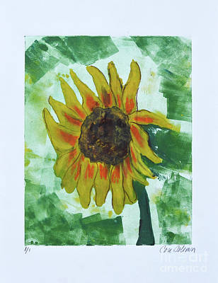 Sunflowers Mixed Media - Basking In The Sun by Cori Solomon