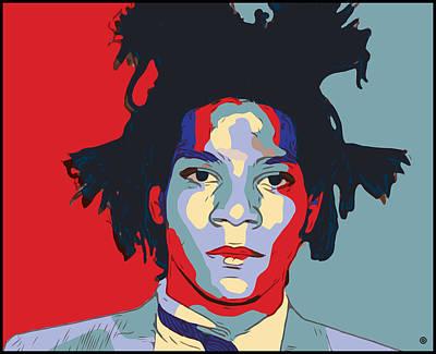 Digital Art - Basquait Portrait by Gary Grayson