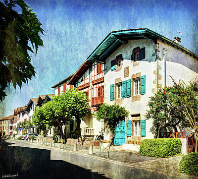 Photograph - Basque Houses In Ainhoa - Vintage Version by Weston Westmoreland