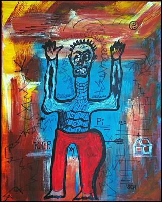 Mixed Media - Basquiat - Don't Shoot by Scott Haley