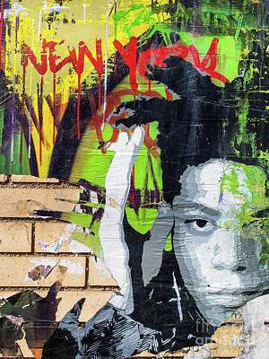 Photograph - Basquiat Paste by Derek Selander