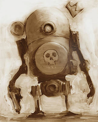 Digital Painting - Basquibot by Matthew Schenk