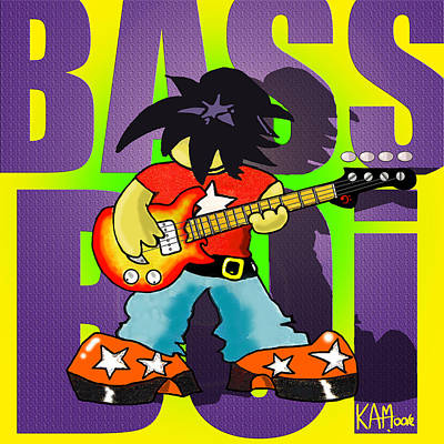 Drawing - Bass Boi by Kev Moore
