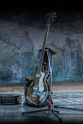 Photograph - Bass Guitar Back Stage by Randall Nyhof
